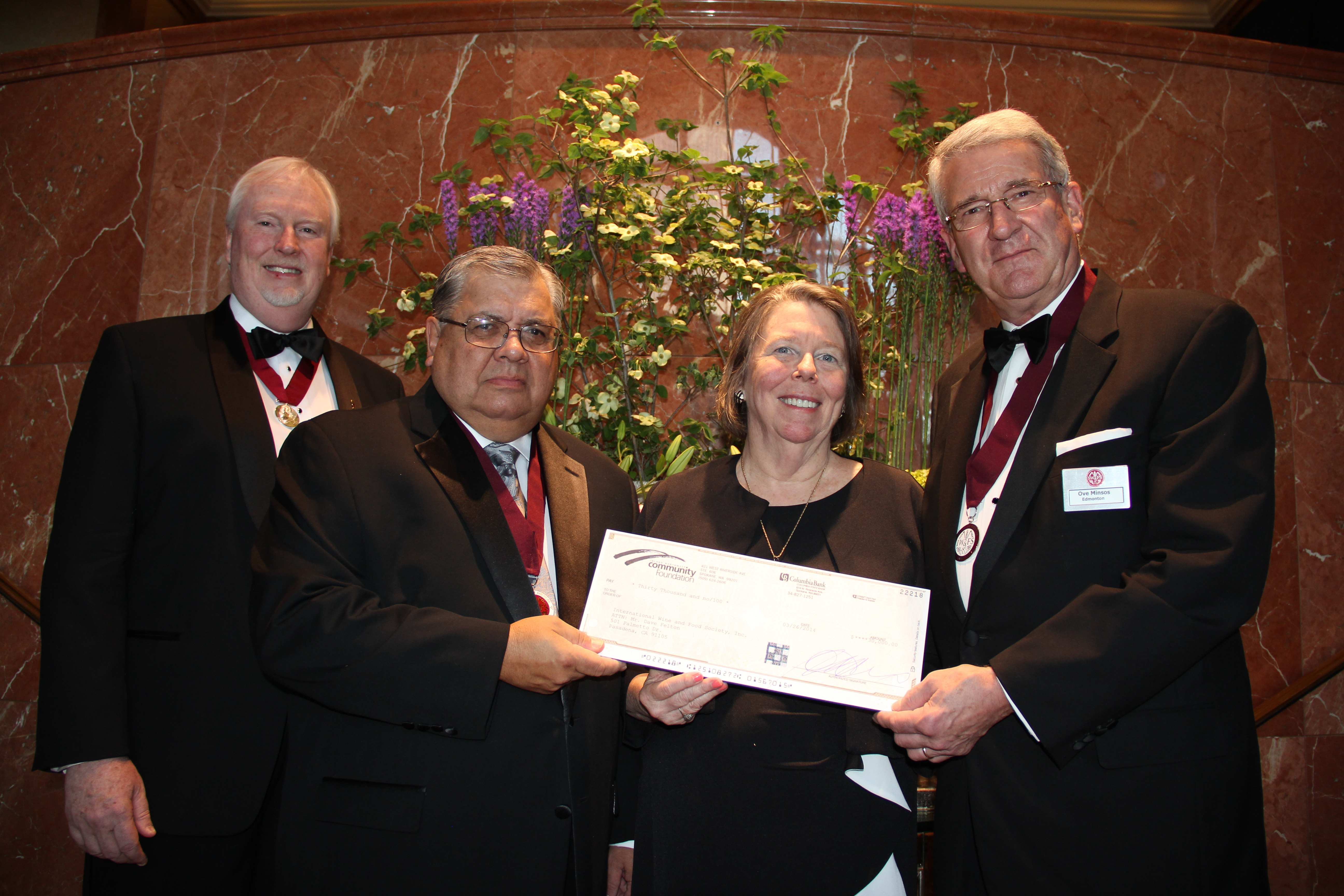 (L to R) BGA Chariman David R. Felton, Treasurer Dwight Catherwood, Publications Chair Cathy Kuhlman, Scholarship Chair Ove Minsos.